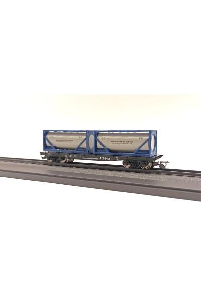Пересвет 3818 Платформа с танк-контейнерами СЖД эпоха IV 1/120