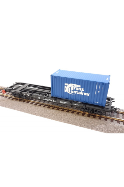 Peresvet 53810 Вагон платформа 13-401+2 контейнера РЖД эпоха V 1/87