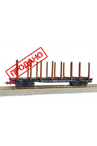 Peresvet 53820 Вагон платформа 13-401 со стойками РЖД эпоха V 1/87