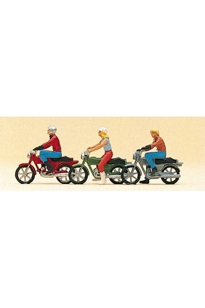 Preiser 10126 Мотоциклисты 1/87