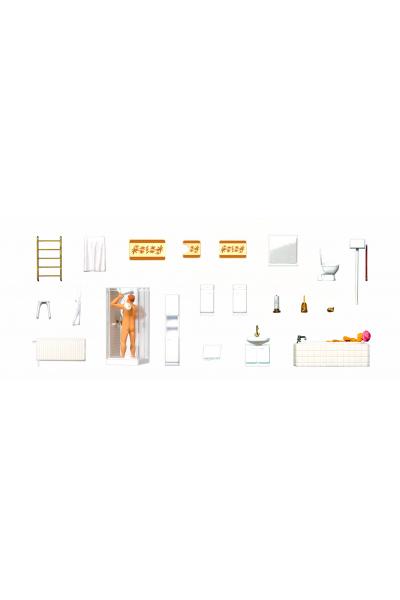 Preiser 10631 Оснащение ванной комнаты 1/87