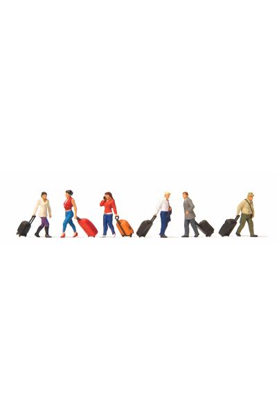 Preiser 10640 Путешественники с чемоданами 1/87