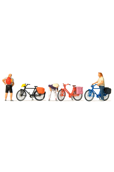 Preiser 10659 Велосипедисты 1/87