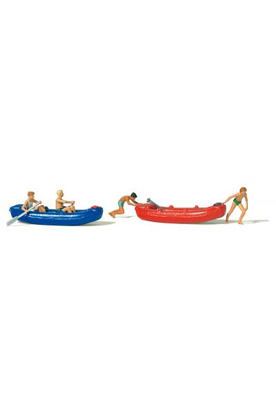 Preiser 10705 Молодежь с лодками 1/87