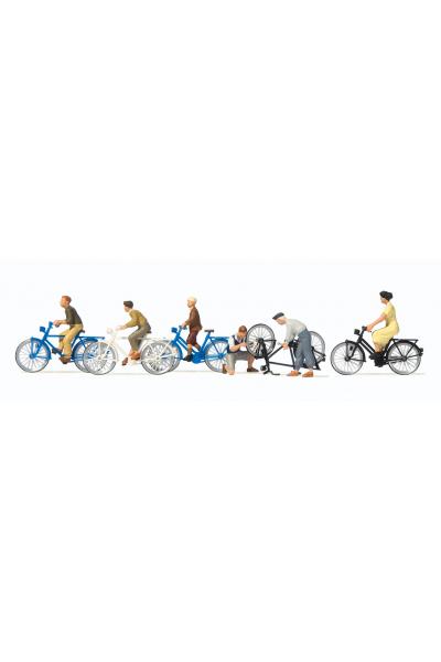 Preiser 10716 Велосипедисты 1/87