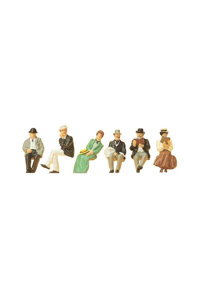 Preiser 12190 Набор фигур сидящие путешественники 1900г 1/87