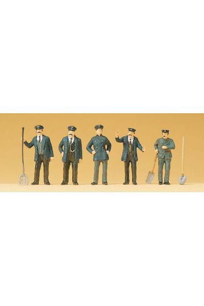 Preiser 12191 Набор фигур железнодорожные служащие1/87
