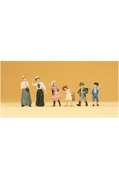 Preiser 12194 Набор фигур женщины и дети 1900г 1/87