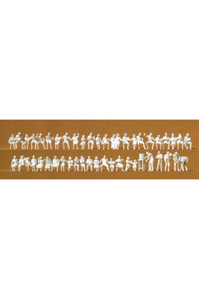 Preiser 16356 В пивном саду 46 неокрашенных фигур 1/87