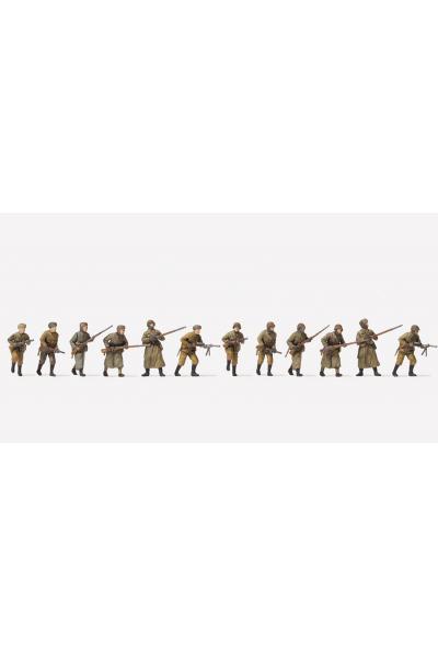 Preiser 16600 Пехота зимняя форма.СССР 1941-1945 гг12 неокрашенных фигур 1/87