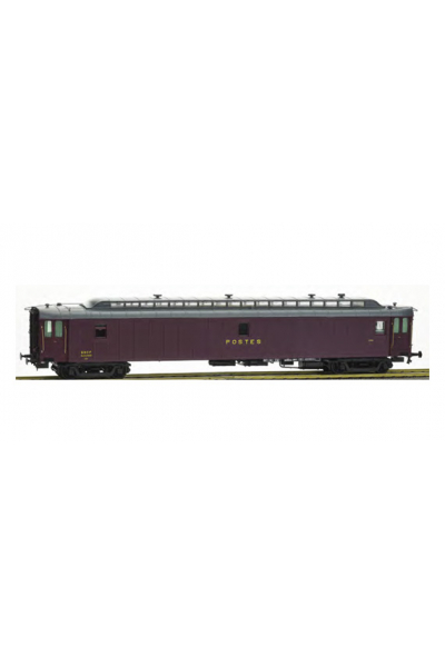 Ree VB-084 Вагон почтовый POSTAL OCEM 21,6 m PTT N°47519 SNCF Epoche III 1/87