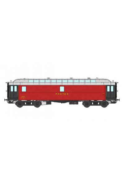 Ree VB-247 Вагон почтовый POSTAL OCEM 16 m N° 45907 SNCF Epoche III 1/87