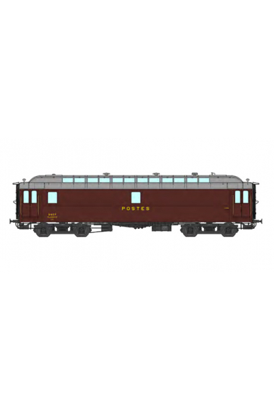 Ree VB-248 Вагон почтовый POSTAL OCEM 16 m N° 46572 SNCF Epoche III 1/87