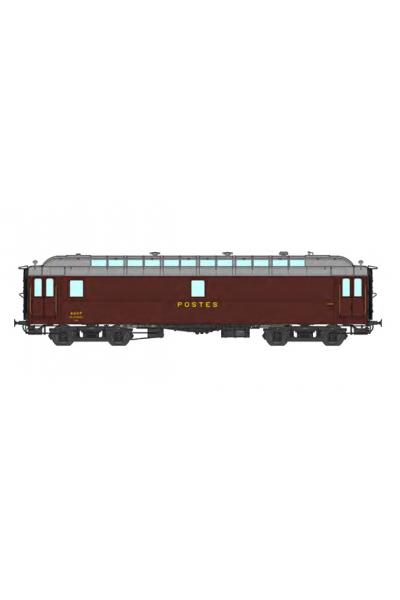 Ree VB-249 Вагон почтовый POSTAL OCEM 16 m N° 45918 SNCF Epoche III 1/87