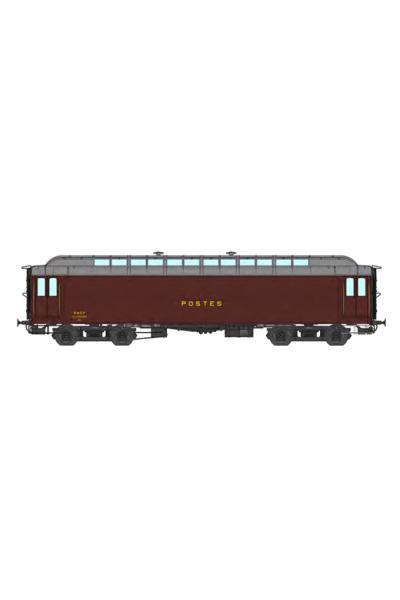 Ree VB-253 Вагон почтовый ALLEGE 16 m PTT N° 42792 SNCF Epoche III 1/87
