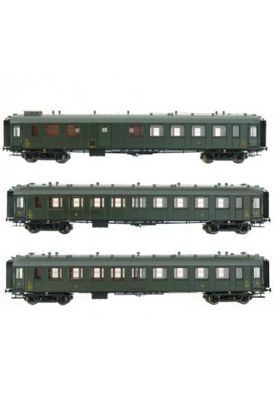 Ree VB-279 Набор вагонов C9yf / C9yfi / C4Dyi AL Epoche II 1/87