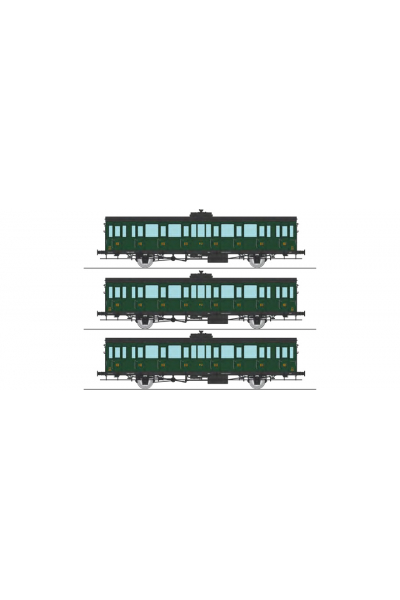 Ree VB-286 Набор вагонов PO Epoche II 1/87