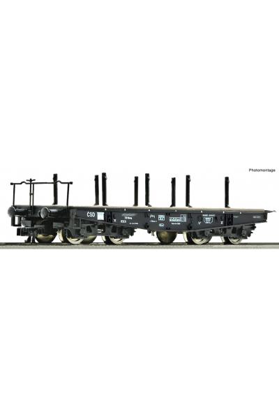 Roco 37595 Вагон платформа Rlmmp CSD Epocha IV 1/120