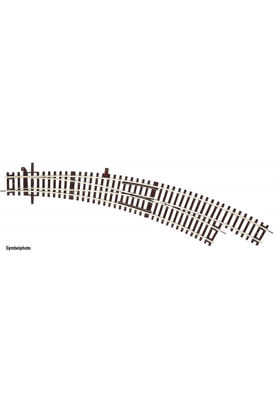 Roco 42473 Стрелка радиусная правая BWr3/4 419,6 mm R3 30° Epoche  1/87