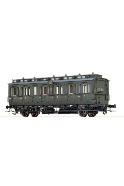 Roco 45477 Вагон пассажирский 3кл DRG Epoche II 1/87
