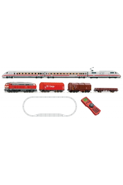 Roco 51256 Стартовый набор Электропоезд ICE + грузовой поезд BR 218 DB AG Epoche V