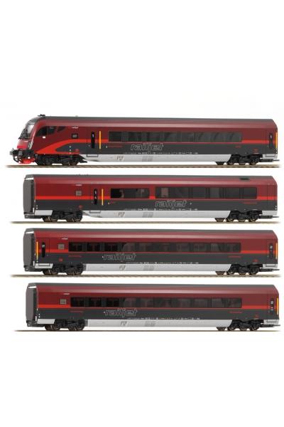 Roco 64188 Набор пассажирских вагонов Railjet OBB Epoche VI 1/87 RO