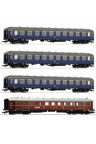 Roco 64194 Набор пассажирских вагонов F-Zug Schwabenpfeil DB Epoche III 1/87 RO