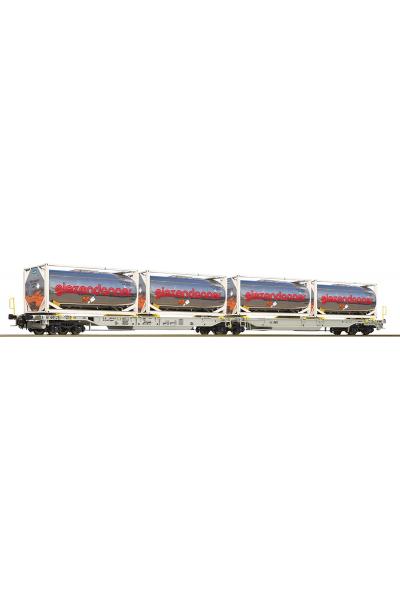 Roco 67403 Вагон платформа Sdggmrs/T2000 AAE AG Epoche VI 1/87 RO