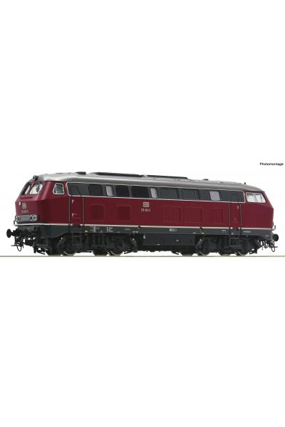 Roco 70752 Тепловоз 215 102-5 DB ЗВУК DCC Epoche IV 1/87 RO