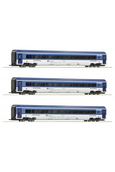 Roco 74068 Набор вагонов Railjet CD CD Epoche VI 1/87