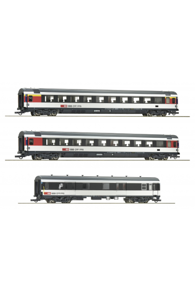 Roco 74082 Набор вагонов Gotthard-Panorama Express SBB  Epoche VI 1/87