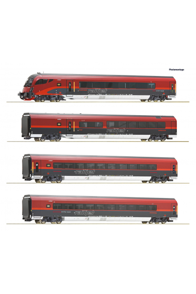 Roco 74084 Набор вагонов RJ 743 Salzburg-Wien Epoche VI 1/87 RO