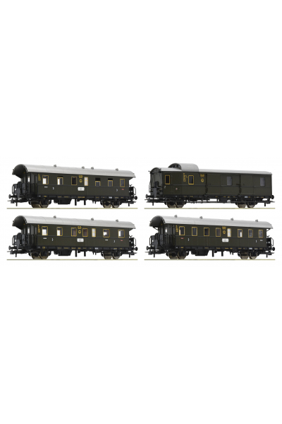 Roco 74102 Набор вагонов Bi Donnerbuchsen DRG Epoche II 1/87 VN