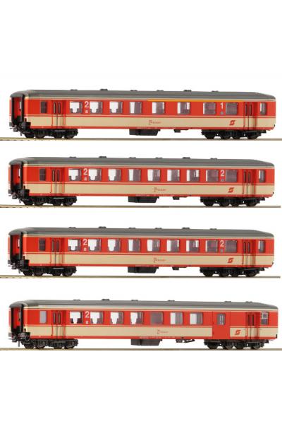 Roco 74130 Набор вагонов Schlierenwagen OBB Epoche IV 1/87
