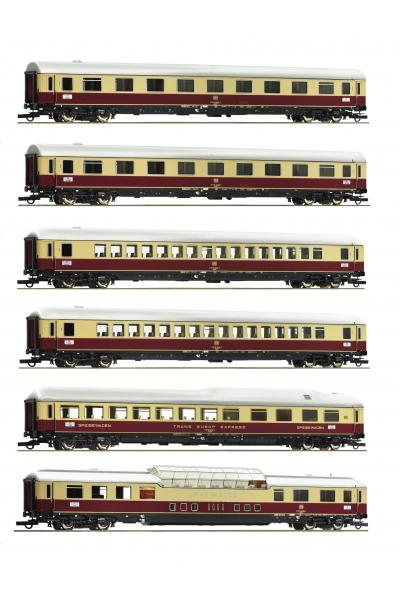 Roco 74135+74136 Нaбор пассажирских вагонов 6шт TEE 9/10 Rheingold DB Epoch IV 1/87 SK