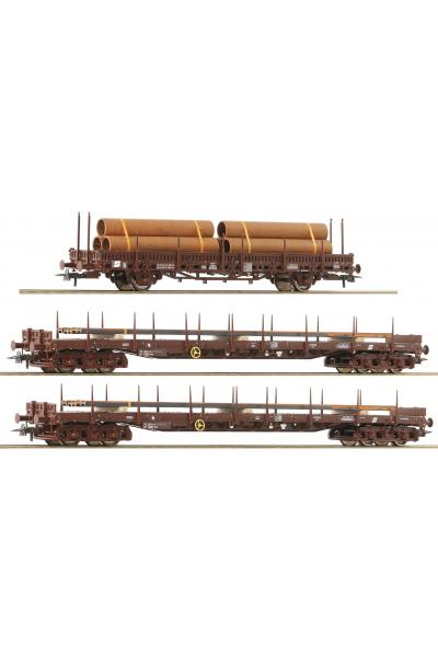 Roco 76053 Набор вагонов Stahlzug OBB Epoche V 1/87