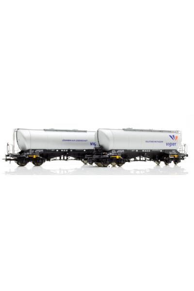 Roco 76084 Набор вагонов Uacns Vigier Cement Epoche VI 1/87 VN