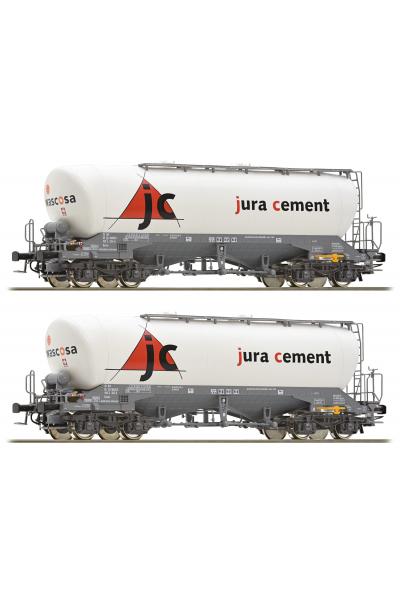 Roco 76146 Набор вагонов Uacns jura cement SBB Epoche VI 1/87