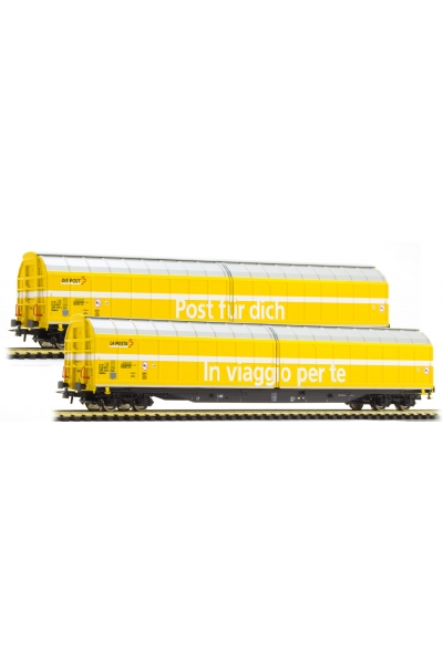 Roco 76153 Набор почтовых вагонов Habbiillnss Swisspost SBB Epoche VI 1/87