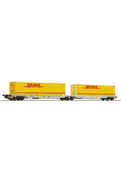 Roco 76421 Вагон платформа Sdggmrs/T2000 DHL Epoche VI 1/87 RO