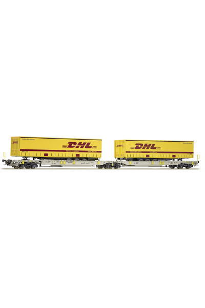 Roco 76425 Вагон платформа T2000 DHL AAE Epoche VI 1/87