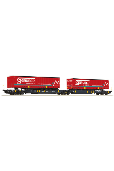 Roco 76428 Вагон платформа Sdggmrs/T2000 WASCOSA Epoche VI 1/87 RO