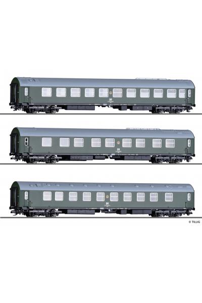 Tillig 01003 Набор вагонов Salonwagenzug 4 DR Epoche IV 1/120