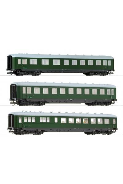 Tillig 01596 Набор пассажирских вагонов 3шт Schurzenwagen OBB Epoche III 1/120