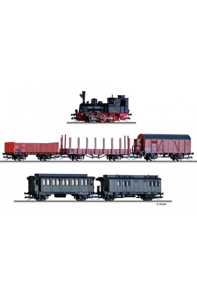 Tillig 01721 Набор BR 89.70 + 5 вагонов DRG Epoche II 1/120