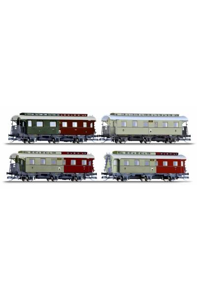 Tillig 01726 Набор пассажирских вагонов Bci 2xCi Cpwi K.P.E.V. Epoche I 1/120