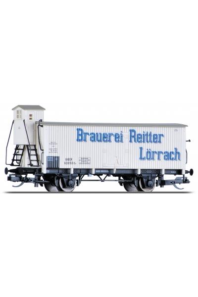 Tillig 17367 Вагон Brauerei Reitter Lorrach Bad.St.B. Epoche I 1/120