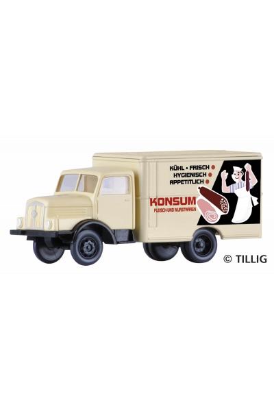 Tillig 19005 Автомобиль IFA H3A Kofferaufbau KONSUM Fleischwaren 1/120