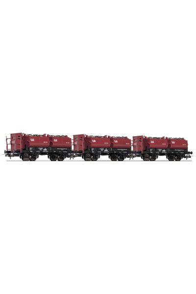 Tillig 74190 Набор вагонов KalkkUbelwagen DRG Epoche II 1/87