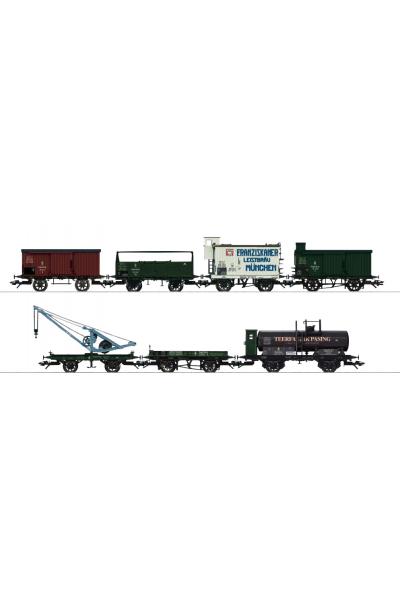 Trix 24114 Набор вагонов G-wagen- K.Bay.Sts.E.B. Epoche I 1/87